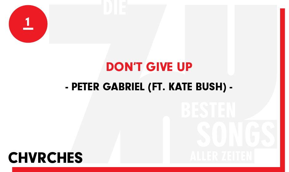 1. Peter Gabriel - 'Don't Give Up'