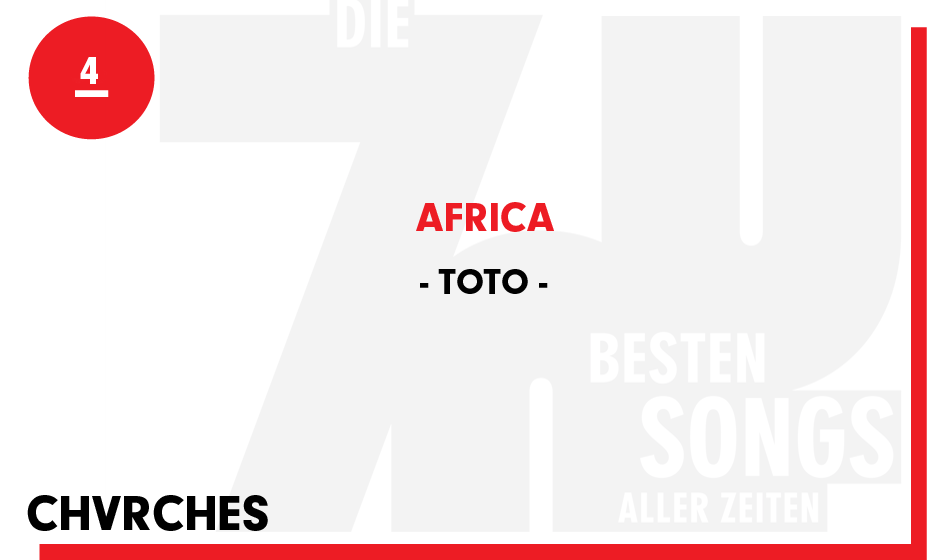 4. Toto - 'Africa'