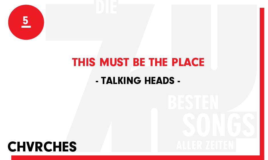 5. Talking Heads - 'This Must Be The Place'