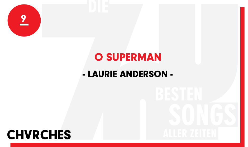 9. Laurie Anderson - 'O Superman'