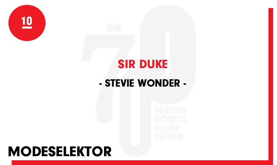 10. Stevie Wonder - 'Sir Duke'