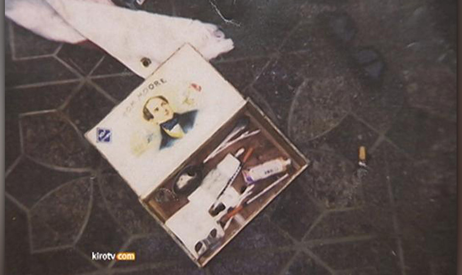Archivfotos vom Tatort am 05. April 1994 im Haus von Kurt Cobain in Seattle. Der Nirvana-Sänger brachte sich mit einer Schro