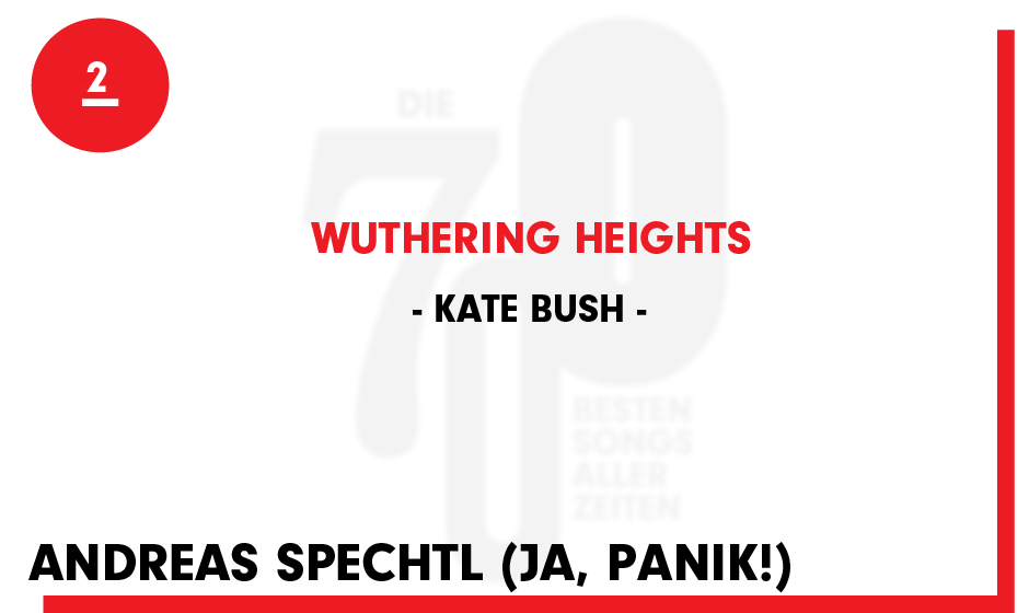 2. Kate Bush - 'Wuthering Heights'