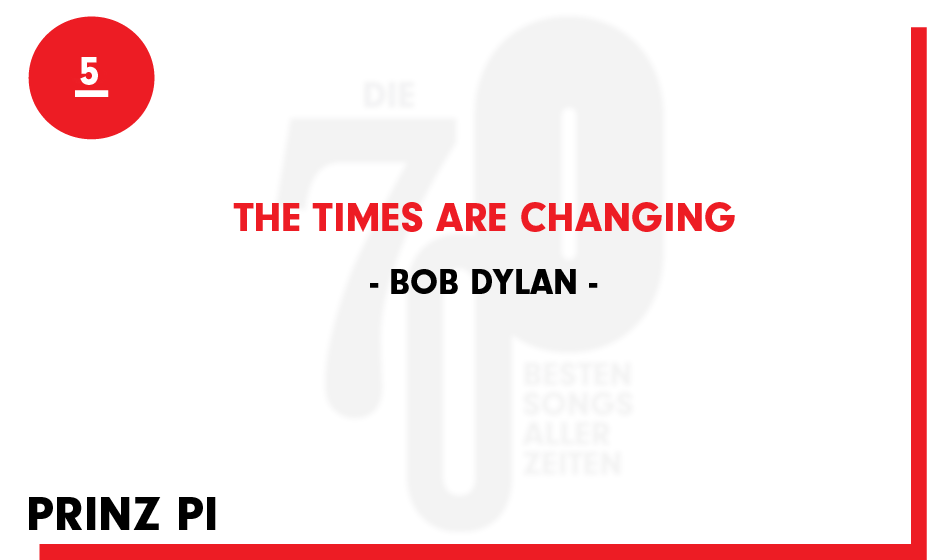 5. Bob Dylan - 'The Times Are Changing'