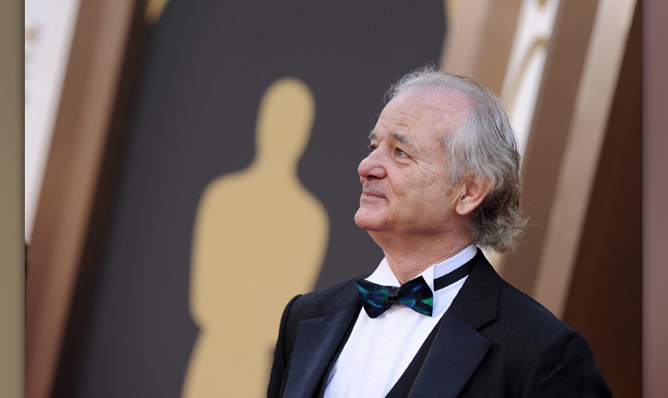 HOLLYWOOD, CA - MARCH 02: Actor Bill Murray arrives at the 86th Annual Academy Awards at Hollywood & Highland Center on M