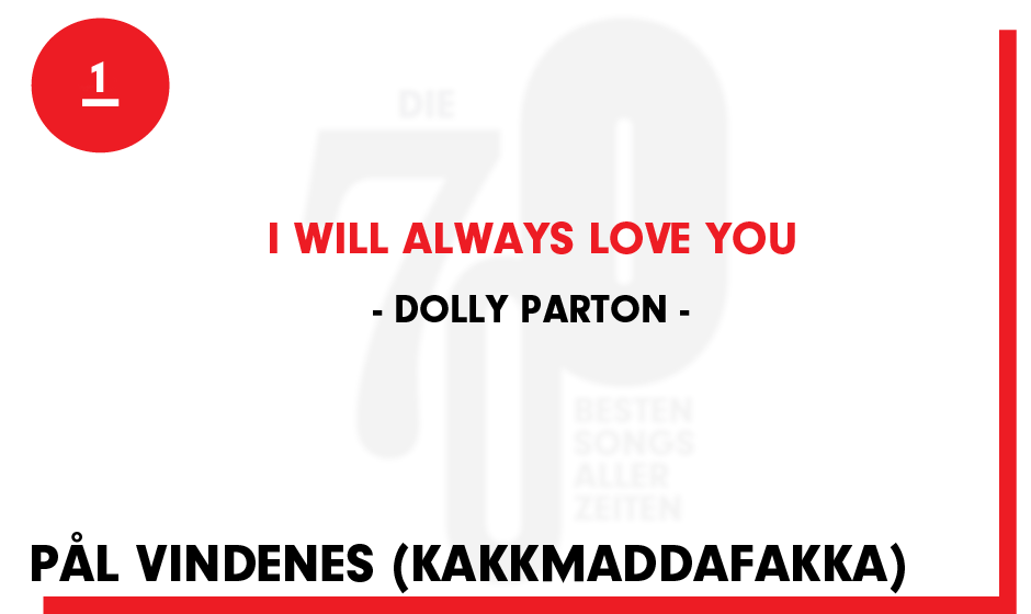 1. Dolly Parton - 'I Will Always Love You'