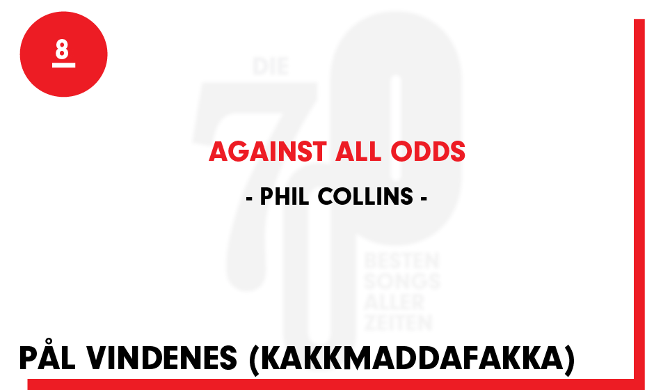 8. Phil Collins - 'Against All Odds'