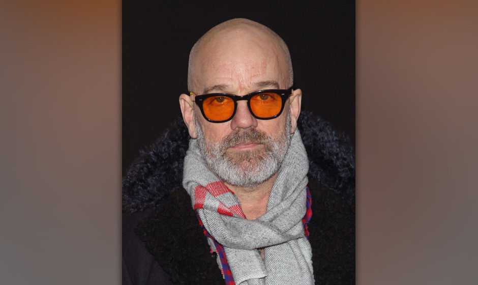 NEW YORK, NY - DECEMBER 08: Singer Michael Stipe attends the 'American Hustle' screening at Ziegfeld Theater on December 8, 2