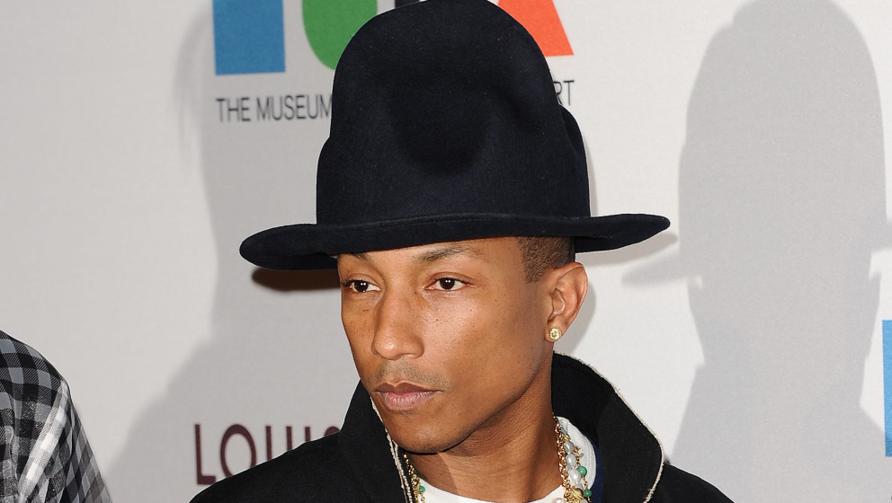 LOS ANGELES, CA - MARCH 29:  Pharrell Williams attends the MOCA 35th anniversary gala celebration at The Geffen Contemporary