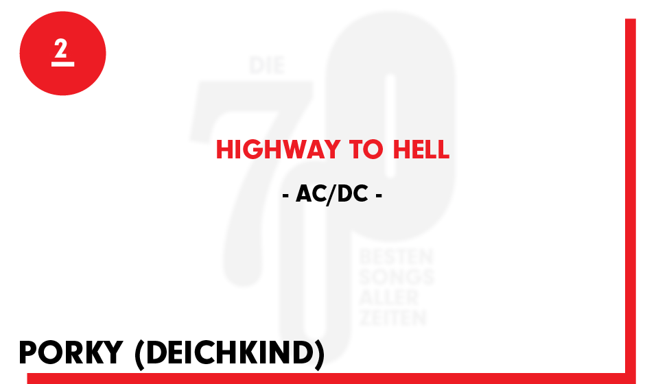 2. AC/DC - 'Highway To Hell'