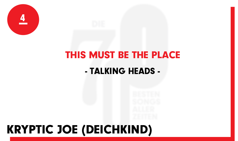 4. Talking Heads - 'This Must Be The Place'
