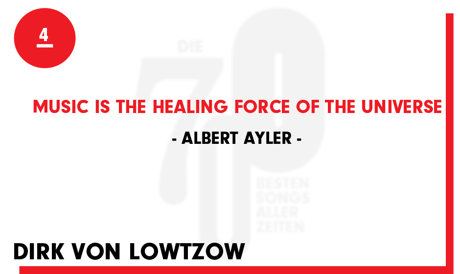 4. Albert Ayler - 'Music Is The Healing Force Of The Universe'