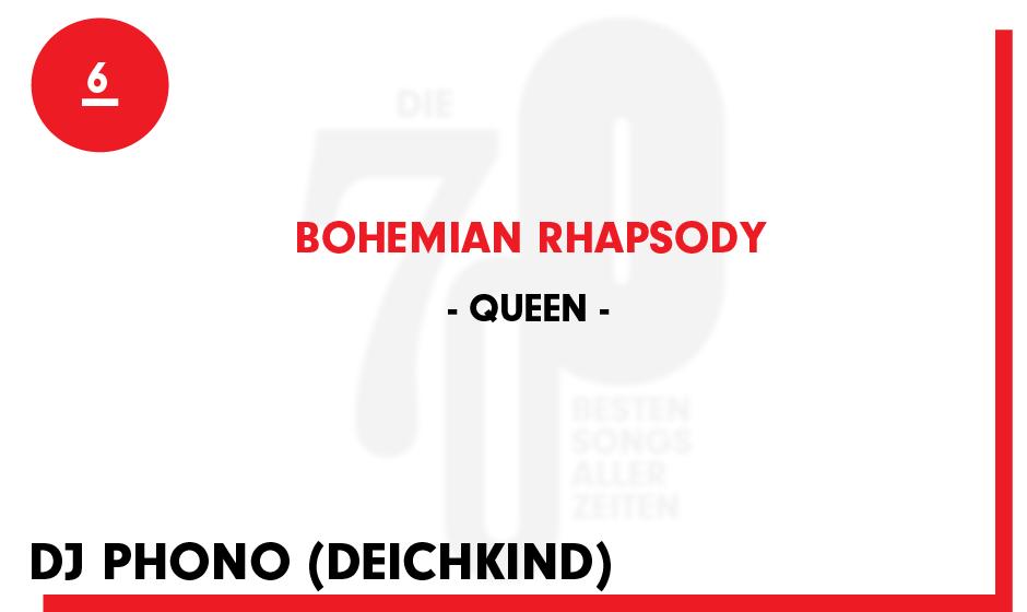 6. Queen - 'Bohemian Rhapsody'