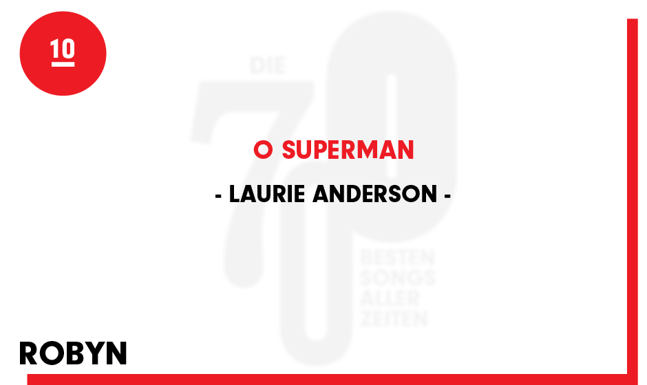 10. Laurie Anderson - 'O Superman'