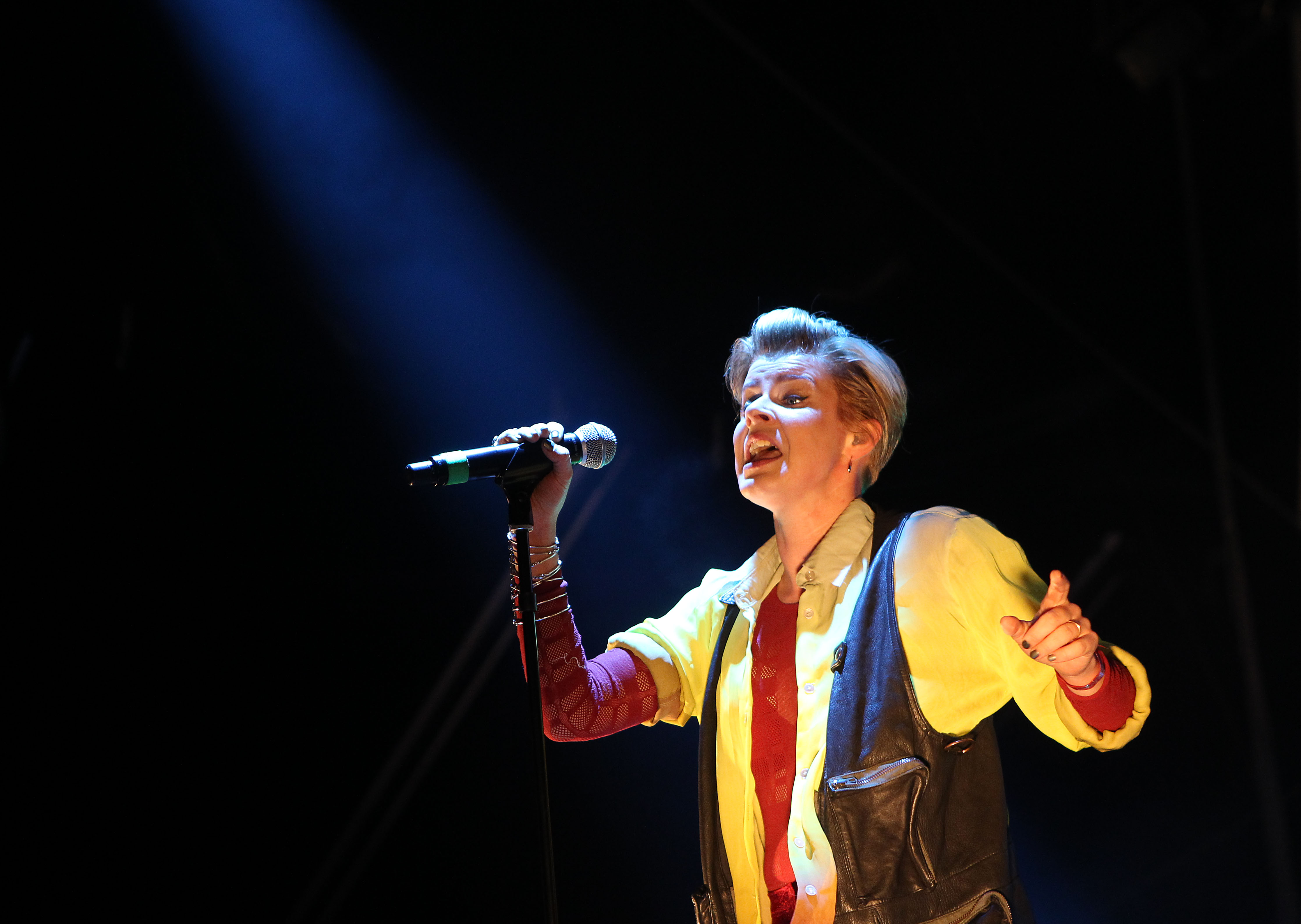SYDNEY, AUSTRALIA - SEPTEMBER 30:  Robyn performs on stage during the Parklife 2012 music festival at Centennial Park on Sept