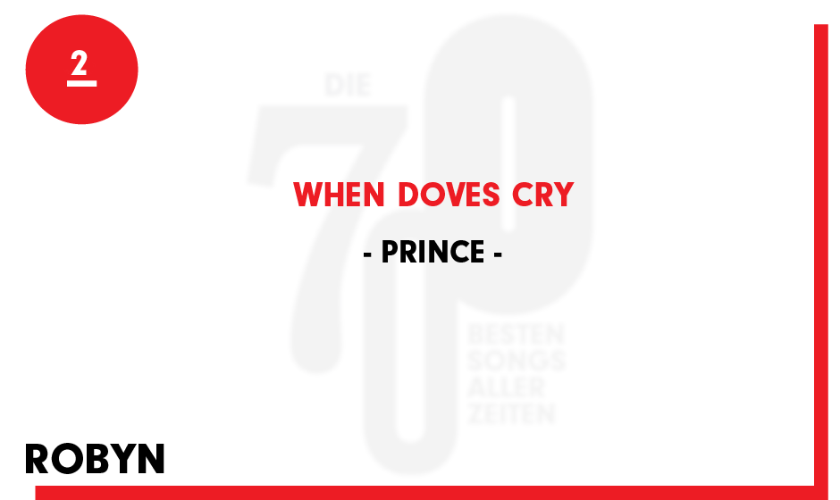 2. Prince - 'When Doves Cry'