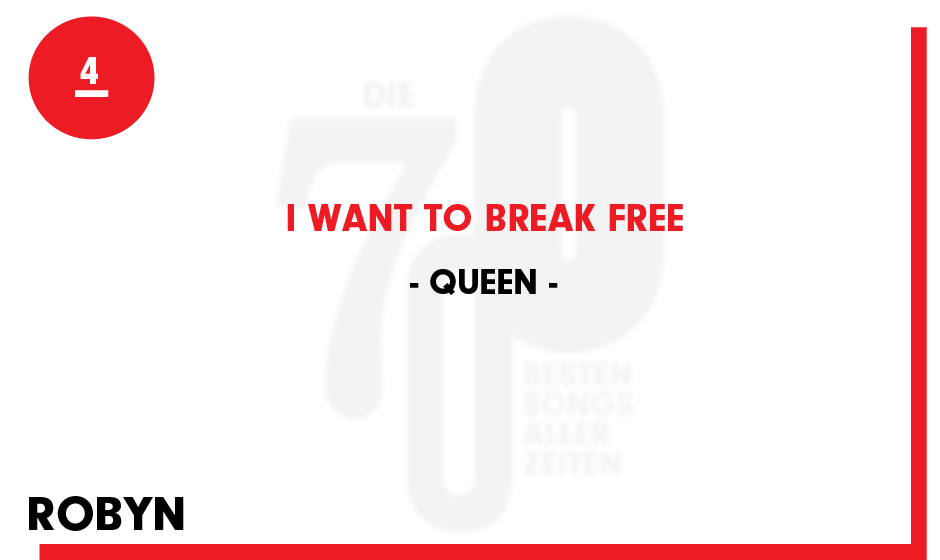 4. Queen - 'I Want To Break Free'