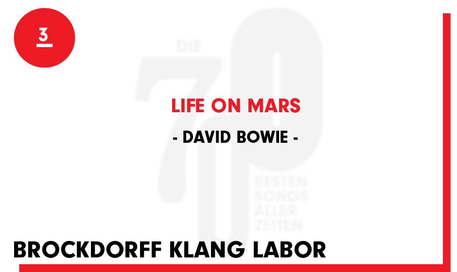 3. David Bowie - 'Life On Mars'