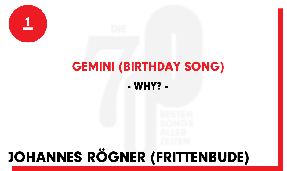 1. Why? - 'Gemini (Birthday Song)'