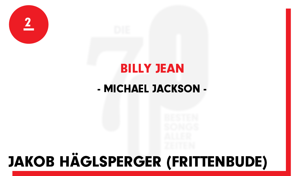 2. Michael Jackson - 'Billy Jean'