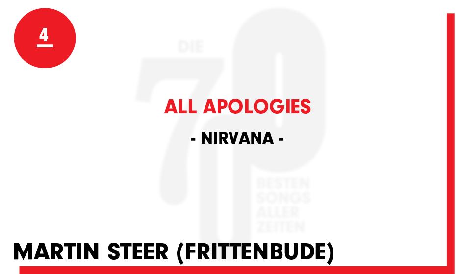 4. Nirvana - 'All Apologies'