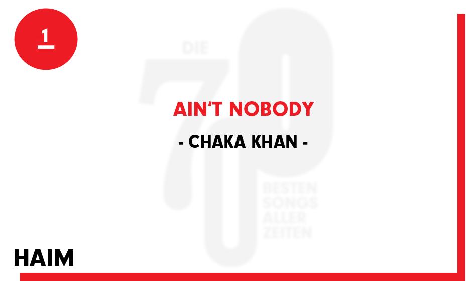 1. Chaka Khan - 'Ain't Nobody'
