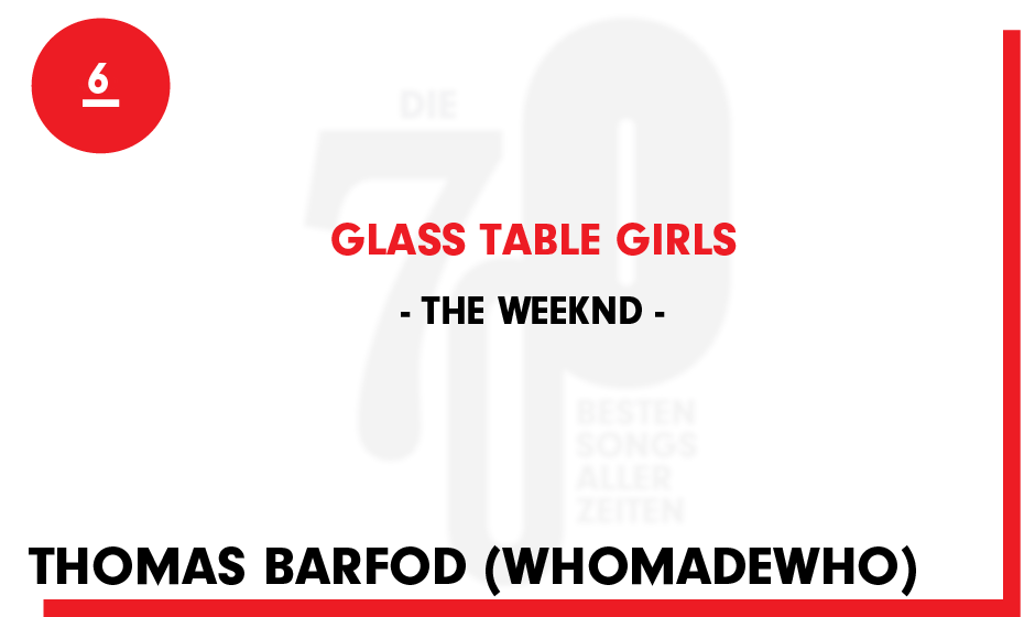 6. The Weeknd - 'Glass Table Girls'