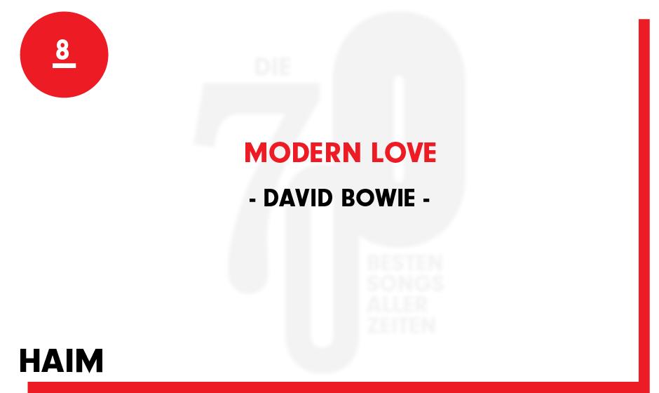 8. David Bowie - 'Modern Love'