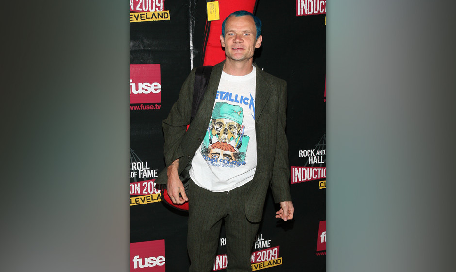 CLEVELAND - APRIL 04:  Musician Flea, of Red Hot Chilii Peppers, attends the 24th Annual Rock and Roll Hall of Fame Induction