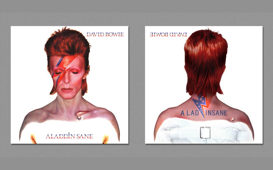 David Bowies ALADDIN SANE - und wie es von hinten aussehen könnte.