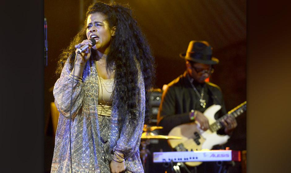 AUSTIN, TX - MARCH 12:  Kelis performs as part of the NPR showcase at Stubbs Bar-B-Que  on March 12, 2014 in Austin, Texas.