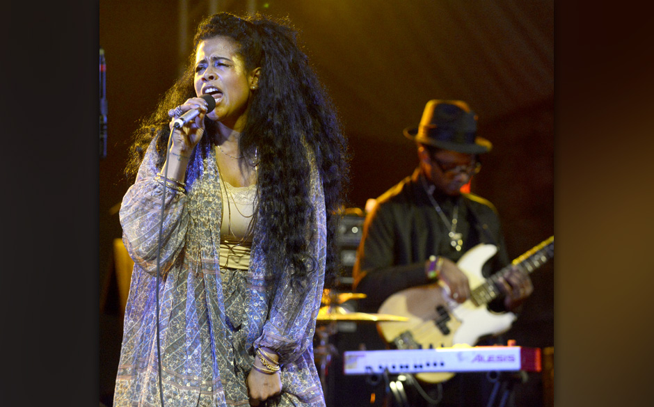 AUSTIN, TX - MARCH 12:  Kelis performs as part of the NPR showcase at Stubbs Bar-B-Que  on March 12, 2014 in Austin, Texas.
