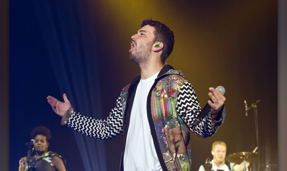 BERLIN, GERMANY - APRIL 12: German rapper Marten Laciny aka Marteria performs live during a concert at the Max-Schmeling-Hall