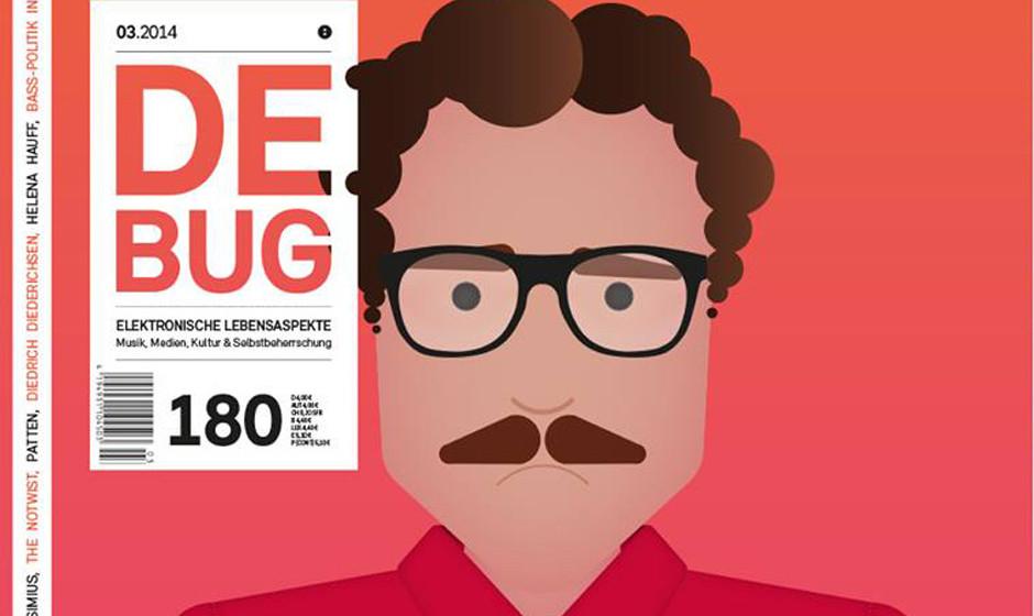 Das März-Cover 2014 von De:Bug