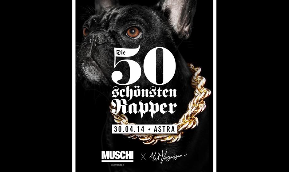 50x wunderschön gerappt: Am 30. April 2014 performen 50 Rapper ihren besten Song live im Berliner Astra,
