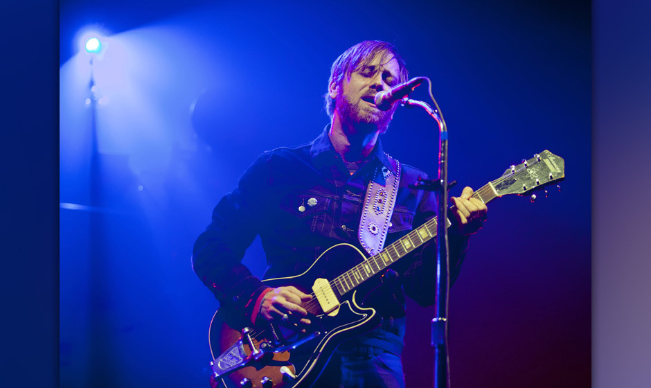 BERLIN, GERMANY - JANUARY 28:  Singer Dan Auerbach of the band The Black Keys performs live during a concert at the Arena on