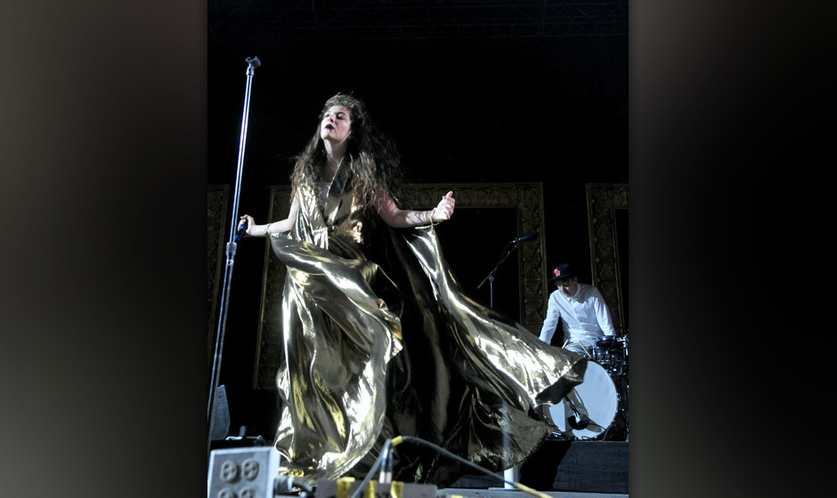 INDIO, CA - APRIL 12:  Musician Lorde performs onstage during day 2 of the 2014 Coachella Valley Music & Arts Festival at