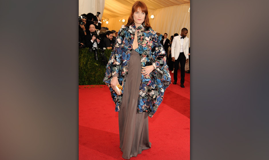 NEW YORK, NY - MAY 05:  Florence Welch attends the 'Charles James: Beyond Fashion' Costume Institute Gala at the Metropolitan