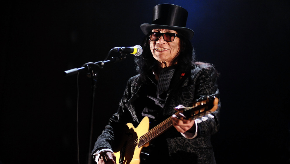 BOLOGNA, ITALY - MARCH 21:  American musician Sixto Rodriguez performs his first italian concert at Auditorium Manzoni  on Ma