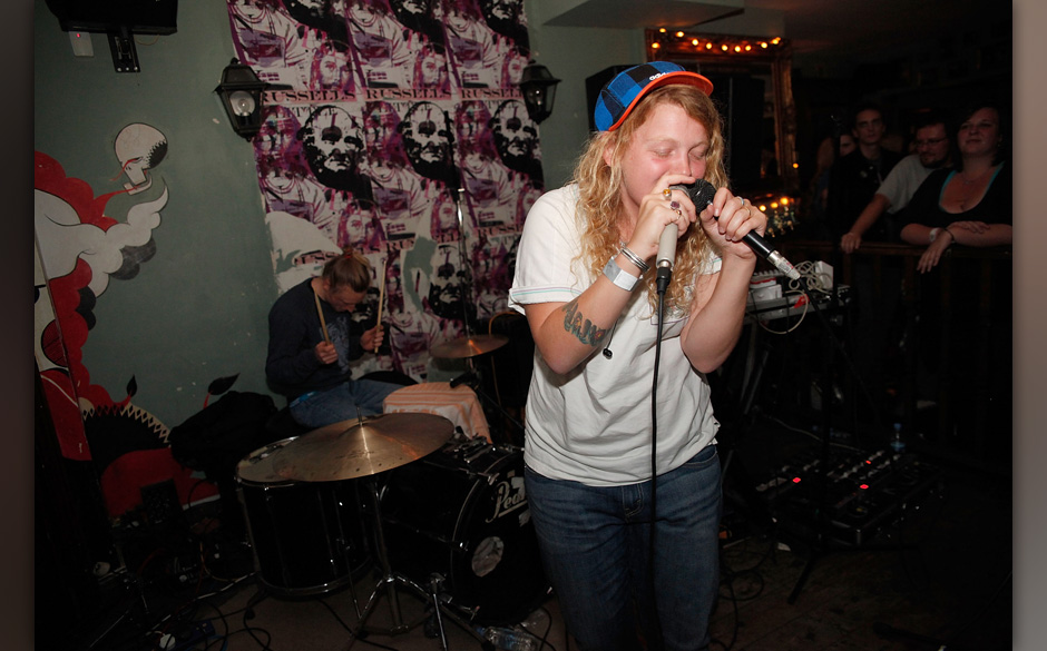 PORTSMOUTH, ENGLAND - SEPTEMBER 17:  Kate Tempest from Sound of Rum performs at Little Johnny Russels during Southsea Fest on