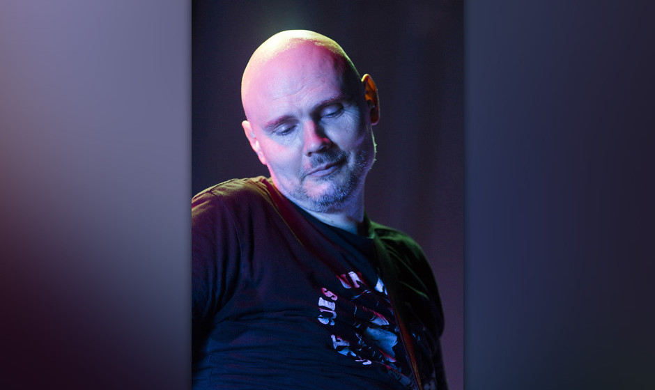 AMSTERDAM, NETHERLANDS - JULY 26: Billy Corgan of The Smashing Pumpkins performs on stage at Paradiso on July 26, 2013 in Ams