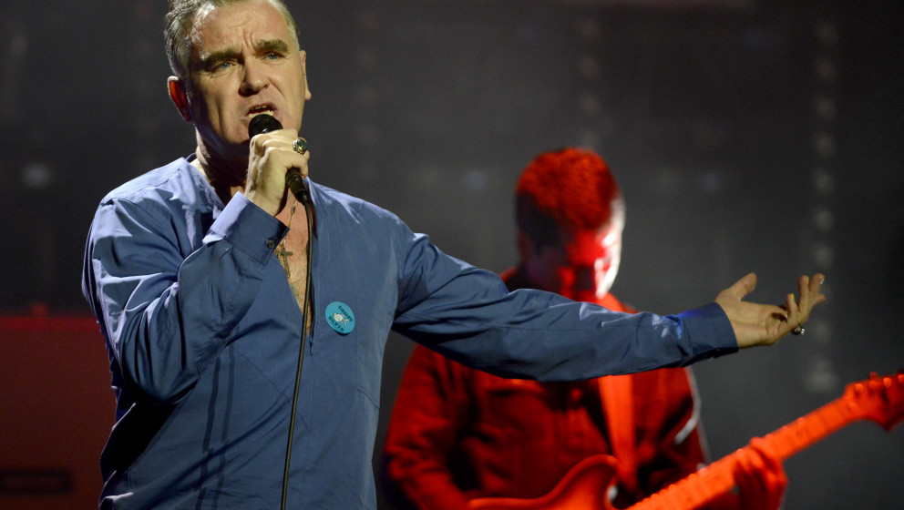 DAVIS, CA - MARCH 4: Morrissey performs at Mondavi Center on March 4, 2013 in Davis, California. (Photo by Tim Mosenfelder/Ge