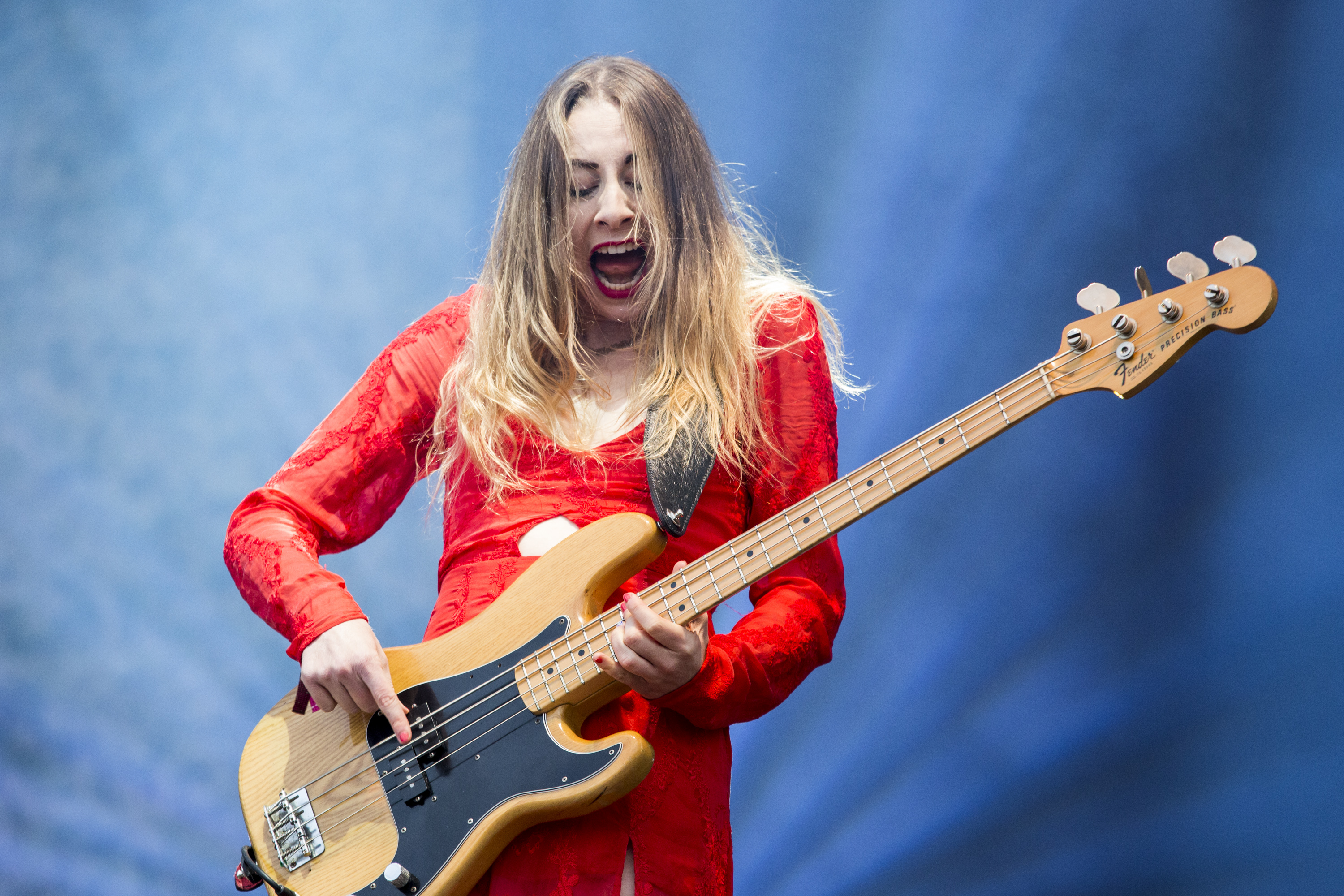 BARCELONA, SPAIN - MAY 30: Este Haim of HAIM performs on stage on day 3 of Primavera Sound 2014 on May 30, 2014 in Barcelona,