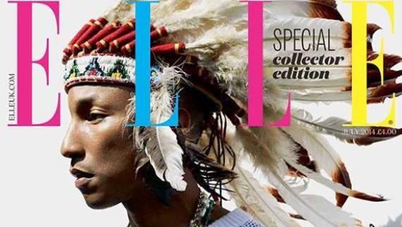 Pharrell Williams hat sich für ein Foto in der britischen 'Elle' entschuldigt,...