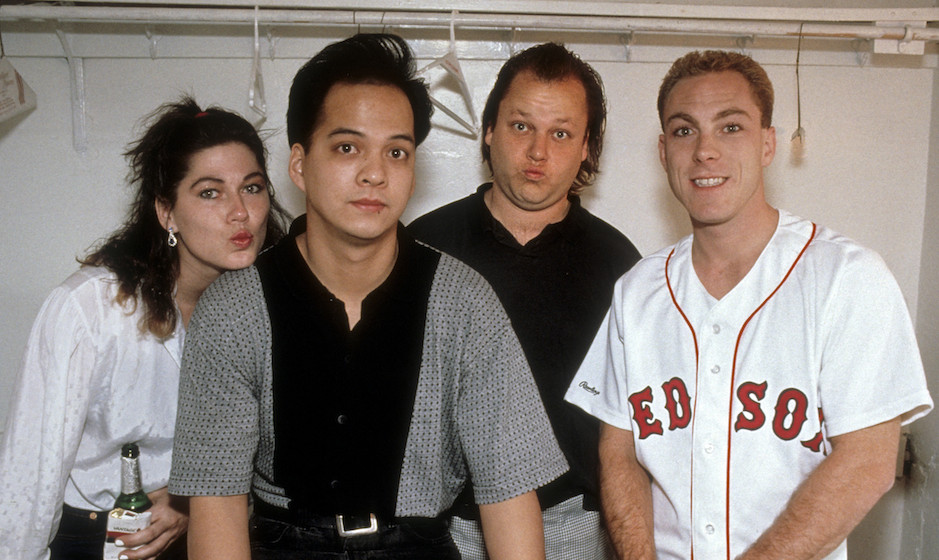 SAN FRANCISCO, CA-APRIL 16: The Pixies posing backstage at the Warfield Theater in San Francisco on April16, 1992. (Photo by