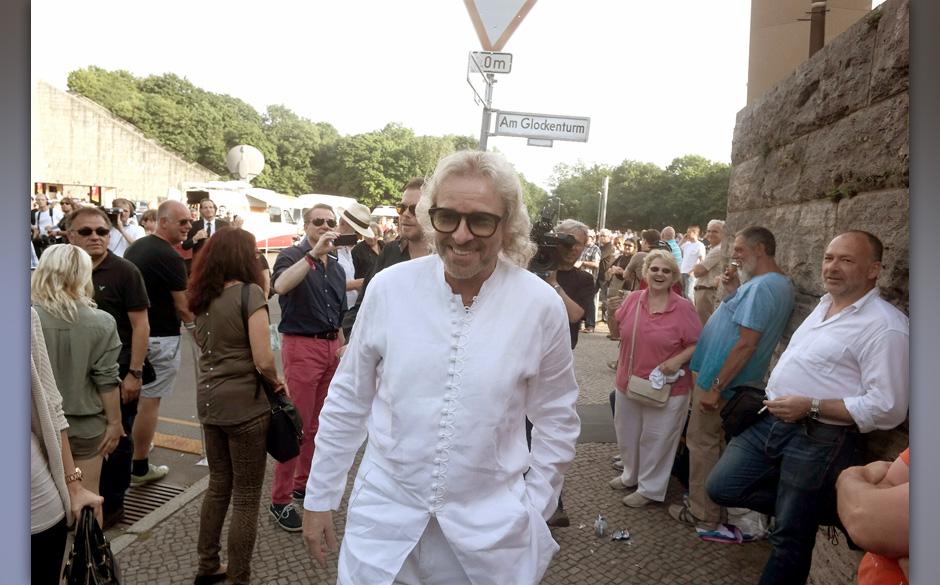 Moderator Thomas Gottschalk kommt zum Konzert der Rolling Stones am 10.06.2014 in der Waldb¸hne in Berlin. Foto: Jˆrg Carst