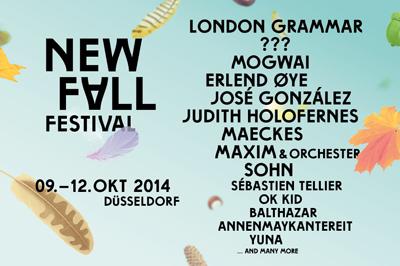 Das Line-Up für das New Fall Festival steht.