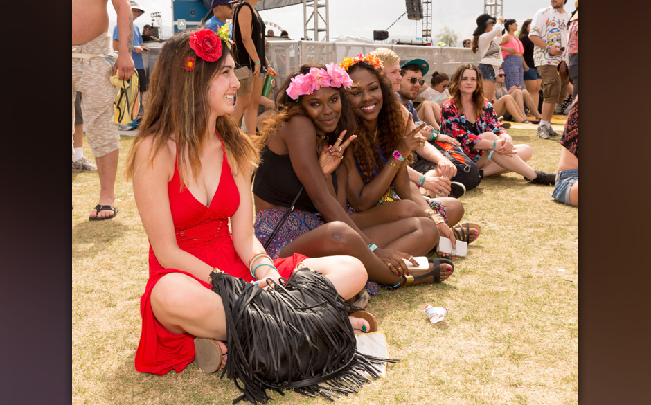 INDIO, CA - APRIL 18:  Guests attend day 1 of the 2014 Coachella Valley Music & Arts Festival at the Empire Polo Club on