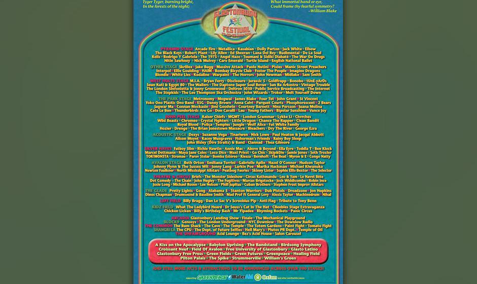 Das Line-Up vom Glastonbury Festival 2014