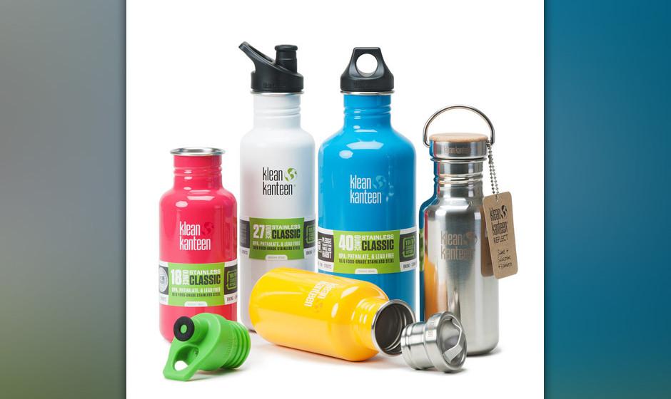 Wasserflaschen aus Edelstahl, ab 23,95 Euro Gesehen bei Kleankanteen.com